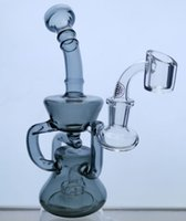 Glass Bong Dab Oil Rig Bowl Quartz Banger Water Pipe glass recycler Perc Heady Bongs Rigs Pipes Smoking Wax Hookahs