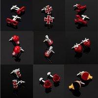 Les séries des hommes de haute qualité d'autres boutons de manchette rouge / verres / bouteille de coke Croix symboles de musique extincteur Cufflinks