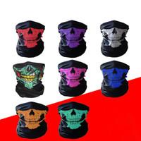 Fast Shipping Skull Skeleton Cycling Caps Masks Anti-dust Warm Magic Headscarf Sports Parade Tube Neck Headscarves Magic Headband Bandanas