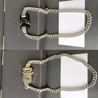 2020SS Alyx Collares Hombres Mujeres Mejor Calidad 1017 Alyx 9SM Collar Cadena Enlace de Cadena Hebilla Metal