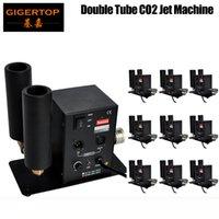 10pcs / lot Doppio ugello CO2 Jet Machine macchina di alta qualità DMX 512 CO2 Jet 6M Tubo 6M Trasporto libero 90V-240V Cryo Jets CO2 Colpo 90V / 240V TP-T27B