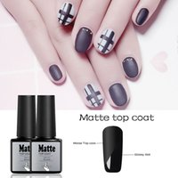 Lghzlink MaTop Coat Primer Gel Polish Nail Art Tips Dull Fin...