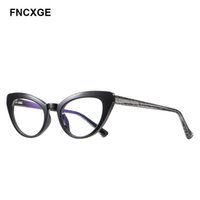 النظارات الشمسية 2021 المرأة الأكبرات خمر الرجعية نظارات الشمس القط العين الضوء الأزرق حجب الكمبيوتر نظارات السيدات أزياء الإناث
