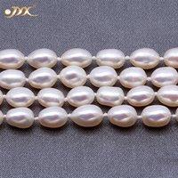 """Jyx Top vente de perles Pull sautoirs ovale rond blanc perle d'eau douce naturelle Collier Collier de charme sans fin 33"""""""