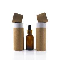 Cadeau cadeau en gros 100pcs / lot essentiel bouteille d'huile de bouteille d'emballage de papier kraft tube de papier kraft boîte boîte en carton 10 ml 20 ml 30 ml 50 ml 100 ml