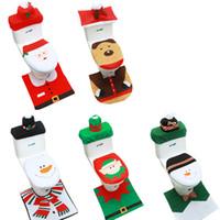2020 Yeni Noel tuvalet kapağı Yaşlı adam Kardan adam tuvalet kapakları halı Radyatör kapağı Kağıt havlu kapağı Klozet Kapağı Noel Dekorasyon Kapaklar