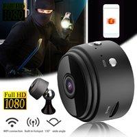 A9 1080p Mini cámara WiFi inteligente Inicio Micro 360 Cámara pequeña Cámara IP de seguridad inalámbrica para Baby Pet Home Monitor