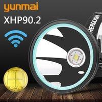 Koplampen XHP90.2 Hoofdlamp Koplamp Koplamp Torch Lantern 32W 4291LM LED-lampen 3 * 18650 3 Modi Hoge Lage Strobe