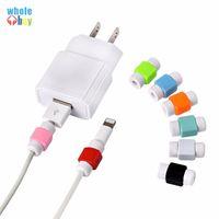 1000pcs / lot Multi Colori Cavo USB Cavo caricatore del telefono mobile della protezione di protezione per IPhone silicone Linea silicone protettiva Winding clip