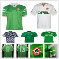 1990 قميص 1992 1994 1988 ريترو ايرلندا لكرة القدم الفانيلة 90 93 94 كأس العالم أيرلندا الكلاسيكية خمر الايرلندي TOWNSEND STAUNTON HOUGHTON كرة القدم