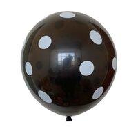 auf Lager Extra Large 12-Zoll-Runde Gepunktete Ballon-Geburtstags-Party-Dekoration Süßigkeit-Farben-Ballon Druck Ballon verdickte 2.8g