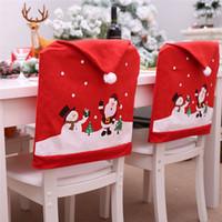 60 * 49cm Presidentes de Natal cobrem Papai Noel Cozinha Cadeira de mesa Coberturas de Natal Festa de Natal Casa Decoração DHL Frete Grátis