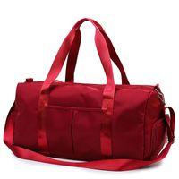 Gran capacidad de Viaje Gimnasio bolso de viaje rojo de la bolsa bolsos de hombro informal fin de semana portátiles bolsos impermeables de nylon bolsas de 2020