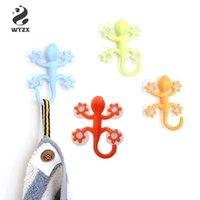 commerciale Gecko Potente plastica Quattro Ventose Hook parete gancio decorazioni Bagno S08 goccia