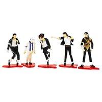 5шт / комплект 12см Mj Майкл Джексон Пвх фигурку Коллекция Модель игрушки Куклы Y200919