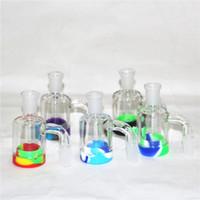 Cachimatín de ceniza de vidrio de narguiles 14 y 18 mm de calidad conjunta de tubería de agua colector de néctar de silicona