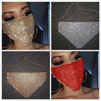 Las mujeres diamante brillante del metal de la mascarilla máscaras de Bling Bling del Rhinestone de la noche del club atractivo partido de la máscara de la máscara de joyería Festival de Carnaval Salvaje