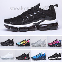 New Arrivals chaussure TN Além disso Running Shoes 2018 tn Homens Outdoor Run Shoes Black White Trainers Caminhadas Sports Sneakers Atlético EUR40-45 A56