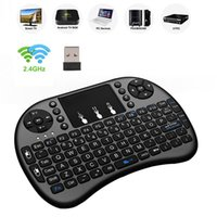 Teclado i8 ruso Inglés Versión 2.4 GHz Wireless Air Mouse con el Touchpad portátil Trabajo Con Android TV Mini PC 18