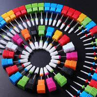 Nail ceramica elettrico trapano Punte fresa Per i file del manicure del chiodo di arte del chiodo di lucidatura accessori della macchina di Pedicure testa stridente