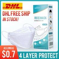 DHL-freie Anlieferung! Kn95 3D-Maske Fischmundschutz weiß atmungsaktiv dünne Weidenblatt schwarz Einweg bequeme Maske für Männer und Frauen