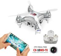 원래 Cheerson CX-10W 4CH 6 축 자이로 WiFi FPV Drone RTF 3D Eversion 미니 RC Quadcopter 무인 항공기 0.3MP 카메라