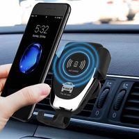 Chargeur sans fil Gravity Q12 pour Samsung S4 S8 S6 S7 S7 EDGE VERSION AIR VENT Porte-téléphone pour chargeur de voiture sans fil iPhone