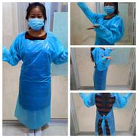 CPE Schutzkleidung Einweg-Isolation Kleider Kleidung Anzüge Antistaub-Außenschutzkleidung Einweg-Regenmäntel RRA3578