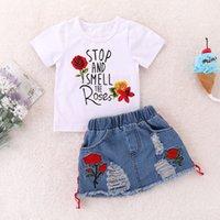 2PCS Baby Girl Outfit vêtements en coton bio O-Neck pleine Belle Cool Fashion Jolie Belle Costume spécial Beau