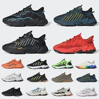King Push Ozweego Men Women running Shoes Era Pack Reflective Xeno Black Bright Cyan Pusha T Taped Seams leather trainers Sports Sneakers
