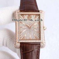 Dial V8 Gypsophila Diamond Black-Tie G0A33075 G0A33076 Japan Miyota Automatik Herren-Uhr-Saphir-Roségold Herrenuhr Lederband