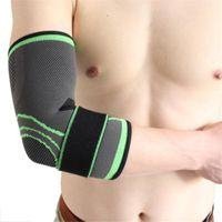 Respirável Elbow Brace bandagem de compressão Sleeve Protector Suporte para Halterofilismo Arthritis Voleibol Arm Tennis Brace 2020