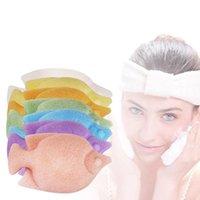 Forma 1pc Natural Fish Konjac facial lavado de cara del soplo Limpiadora Exfoliante Esponja de limpieza Esponja Puff Limpiador Facial