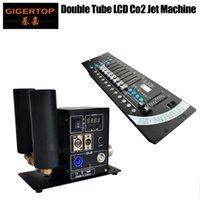 Discount Price Display Двойные трубы CO2 Jet Machine Светодиодный дым эффект CO2 Устройство + 1 шт. 192 DMX Контроллер сцены Освещение 512 DMX Консоль