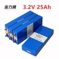 4ピース3.2V 26Ah LiFePO4バッテリー充電式Liポリマーセル12V25AhパックEバイク3C 75AコンバーターHID太陽光発電