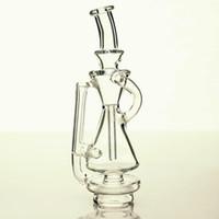 Премиум стекло Нового стиль Carta ресайклинг с прозрачным стеклом толщины для курящего пончика Dab Фокуса V Carta Recycler