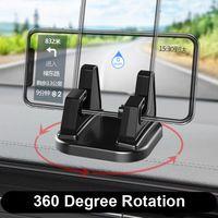 Universal de 360 grados giran automóvil titular del teléfono celular del tablero de instrumentos se pega Soporte universal Soporte de montaje para Iphone 11 Pro paquete de Max Con menor