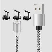 Yeni 3 in 1 Manyetik Kablo Şarj Hattı 2A Naylon Hızlı Şarj Kablosu Tipi C Mikro USB Kablosu Samsung Note20 S20