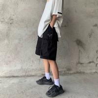20ss Avrupa Kısa Erkekler Klasik Lüks Moda Pantolon Ter Pantolon Teknik Malzeme Çift Taraflı Büyük Picable Sokak Severler Uyluk Pantolon