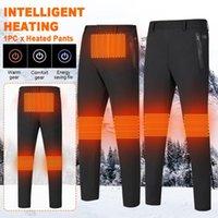 Calças de esqui homens mulheres pescar lavável inverno quente ao ar livre caminhadas leves elásticas cintura elástica aquecida À prova d 'água usb elétrico nylon