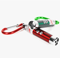 Mini 3 in1 Laser Pointer Flashlight Torch Light Lamp Portable Keychain keyring Laser Torch Light Flashlights point pens