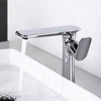Rubinetti del lavandino del bagno Chrome Brass Brass Rubinetto del bacino superiore del contatore dell'acqua Tap freddo
