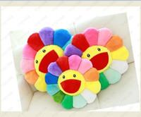 Cuscino girasole peluche giocattolo divano cuscino colorato diametro 40cm tessili per la casa decorativi