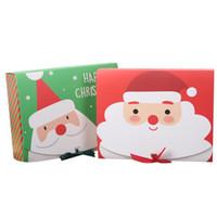 크리스마스 종이 선물 상자 만화 산타 클로스 선물 포장 상자 크리스마스 파티 호의 상자 가방 아이 사탕 상자 크리스마스 파티 OWC1773 용품