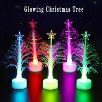 Creativo LED albero di Natale albero romantico colorato fibra ottica albero di Natale creativo colorato lampeggiante albero di natale notte luce notturna