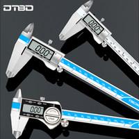 0-150mm / 200MM / 300MM العرض الرقمية الفولاذ المقاوم للصدأ الفرجار 1/64 الكسر / MM / بوصة LCD الالكترونية رنيه الفرجار IP54 للماء