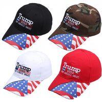 Trump Berretto da baseball 2020 il presidente degli Stati Uniti Cappello Elezione ricamo rendere l'America Grande Snapback Caps Sport all'aria aperta camuffamento Cappello per il sole LJJP518