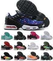 2020 Artı 3 Tuned Hava Erkek TN Koşu Ayakkabıları Beyaz Siyah Kırmızı Parlak Seramik Tunsed Tuned TN Requin Üçlü Beyaz Obsidian Bayan Sneakers