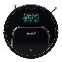 Eworld Vecuum Cleans M883 Scep-Sensive Auto Recharge Auto-Clean Auto-Cleaning Датчик анти-осенью с большим швабром пылесос робота черный