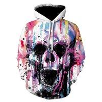 3d Skull headr Men Hoodies Sweatshirts Streetwear Hip Hop Warm Fashion Casual Funny Hoodies Autumn Sweatshirt Long Sleeve Tops